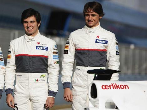 Los pilotos Sergio Pérez y Esteban Gutiérrez representan a México en la Fórmula 1. Foto: Getty Images.
