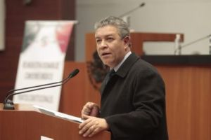 David Pechyna Grub, Presidente de la Comisión de Energía. Fuente: Senado de la República.